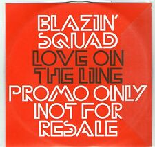 BLAZIN SQUAD -LOVE ON THE LINE - PROMOTION CD - CD single - FREE P&P UK