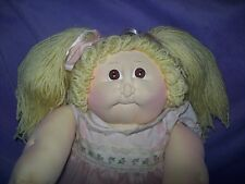 Blonde Girl Soft Sculpture Cabbage Patch Kids Little People Doll Xavier Roberts