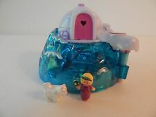 Polly Pocket Bluebird Igloo with Doll and White Dog