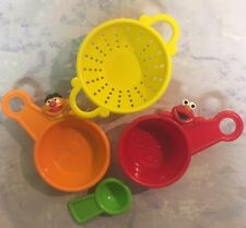 Sesame Street Cook Set Strainer Pan Pot Bowl Measuring Spoon Tools Cookware