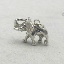 3D STERLING SILVER AFRICAN ELEPHANT CHARM