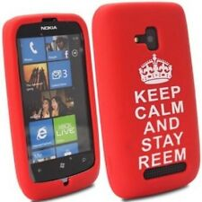 Nokia Lumia N610 Red Keep Calm Stay Reem Gel Mobile Phone Case Cover  Stocking