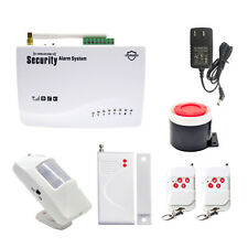 GSM Wireless Home Burglar Alarm Security System Remote Control PIR Door Sensor