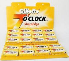 100 x GILLETTE 7 O CLOCK DOUBLE EDGE RAZOR BLADES SUPER STAINLESS FREE POSTAGE