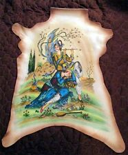 Persian Art Rumi Listen to the Reed Pipe Oil on Leather Signed by Artist