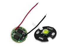 10W Cree XML-T6 White LED Light Emitter 16mm PCB+ DC3.7V 2.5A LED Dimmer Driver