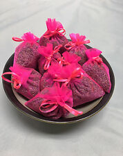 Set of 10 Lavender Sachets made with Hot Pink Organza Bags