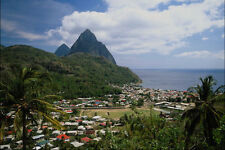 739001 Soufriere And The Pitons St Lucia Caribbean A4 Photo Print