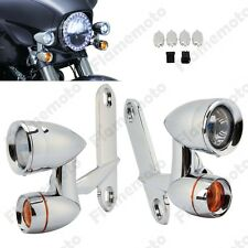 Fairing Mounted Driving Lights with Turn Signals For Harley Electra Glide FLHX