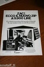 BI4=1972=POLAROID LAND CAMERA ZIP=PUBBLICITA'=ADVERTISING=WERBUNG=