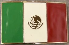 Pewter Belt Buckle National Flag of Mexico NEW