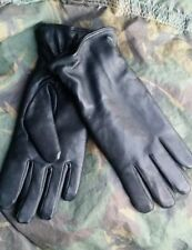 NEW British Army Black Leather Combat Gloves Goretex Lined MK2 Size 7 8 9 10 11