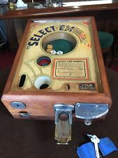 "1934 EXHIBIT SUPPLY Co. ""Select Em"" Dice Coin Operated Trade Stimulator"