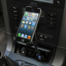 USB Car Cigarette Lighter Charger Stand Mount Holder For iPhone 4S 5 5S 5C iPod