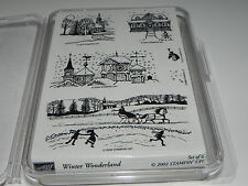 Stampin Up Winter Wonderland Stamp Set of 6 NEW UM Rare HTF Winter Scenes