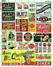 2003 DAVE'S DECALS BEER TOBACCO OLD BUILDING ADVERTISING BAR DINER SIGNAGE