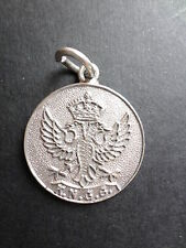 1940 silver fob medallion by James Fenton with KNGS & double headed eagle (!?)