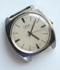 VINTAGE ORIS 17 JEWELS HAND WINDING MEN'S WRIST WATCH AS IS FOR PARTS OR REPAIR