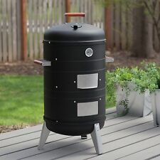 Charcoal Water Smoker And Electric Grill 2 in One BBQ Barbecue Outdoor Cooking