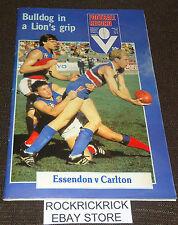VFL FOOTBALL RECORD BOOK JUNE 14 1982 VOL. 71 NO. 26 (ESSENDON VS CARLTON)