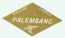SINGAPORE MALAYAN AIRWAYS TO LABUAN VINTAGE AIRLINE LUGGAGE LABEL