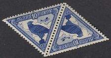 BIRDS :1930 ICELAND 10a blue & deep blue SG173 never-hinged mint se-tenant pair