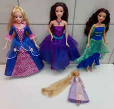 Barbie 4er Set Dornröschen Modezauber Paris Diamantschloss Mini Kingdom Rapunzel