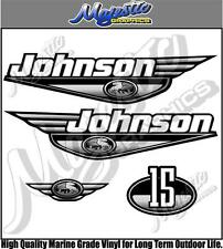 JOHNSON 15hp - GREY DECAL SET - OUTBOARD DECALS