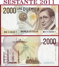 ITALIA ITALY  2.000 2000 Lire MARCONI  6.3. 1992 - P 115 - Lettera  B - FDS/UNC