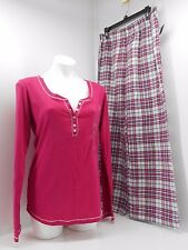 Tommy Hilfiger Long Sleeve Pajama Set. Pink/plaid Pants. Size L  SNR85S086