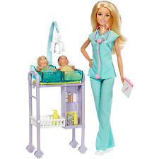 Barbie Careers I Can Be Barbie Baby Doctor Playset Twin Babies Doll 2016