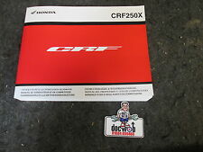 Honda CRF250X 2013 Genuine oem UK owners workshop service manual CR3046