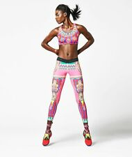 NIKE MAGICAL KALEIDOSCOPE JUST DO IT TRAINING tights size LARGE BRIGHT & FUN