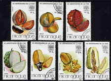 NICARAGUA 1986 NUTS SET OF SEVEN STAMPS COMPLETE!