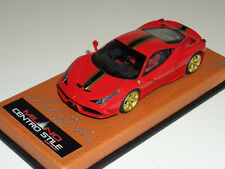 1/43 MR Ferrari 458 Speciale rosso corsa-glod black strip-gold wheels Lmt 8 pcs