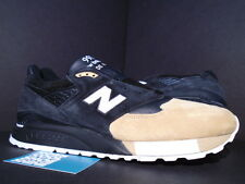 2015 NEW BALANCE M998PRMR PREMIER PRMR BLACK WHITE TAN BEIGE NEW 9
