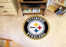 "FANMATS 17972 Pittsburgh Steelers NFL Football Roundel Mat Rug 27"" Diameter NEW"