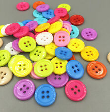 50pcs Mixed Resin round buttons Sewing Scrapbooking 4 holes Craft 18MM