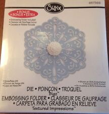 Sizzix Snowflake #4 Die-Cut *BONUS Embossing Folder Included