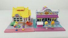 vintage polly pocket Toy Shop & Pet Shop 4 Dolls Bluebird toys 1993
