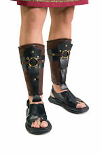 Roman Soldier Leg Guards Centurion Costume Caesar Nativity Legionnaire