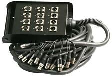MULTICORE / STAGE BOX  / SNAKE 15m XLR 8/4 12-way multi cable lead microphone