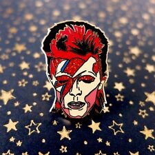 Unique Ltd Edition David Bowie Aladdin Sane, Ziggy Stardust Pin Badge Made In UK