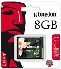 Kingston 8GB CF 8G CF Compact Flash memory card high Speed CF/8GB Retail