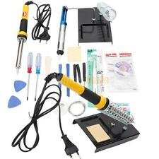 18pcs Electric Cellphone Soldering Iron Station Kit w/ Desoldering Pump 230V 40W