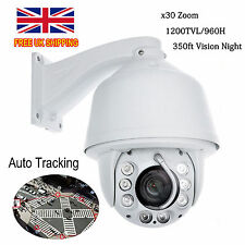 Auto Tracking 960H 30x Zoom 1200TVL PTZ High Speed CCTV DOME Camera UK SHIPPING