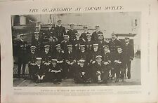 1902 PRINT ~ THE GUARD-SHIP AT LOUGH SWILLY & OFFICERS OF CAMPERDOWN NAMED