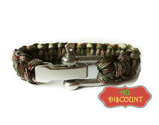 Camouflage - Military Survival Bracelet Wristbands Shackle Cord buckle outdoor