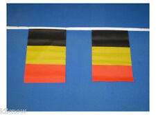Belgium Flag Bunting 9metres 30ft Long with 30 Cloth Fabric Flags