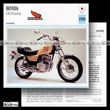 #056.09 HONDA CM 125 CUSTOM 1990 Fiche Moto Motorcycle Card